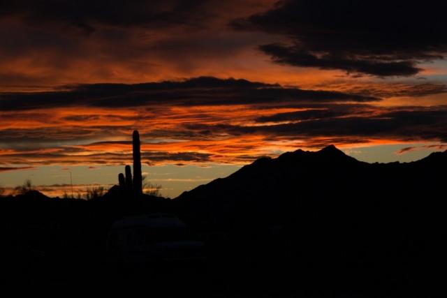 Sunset at Quartzfest